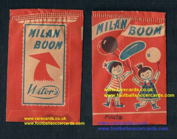 1960's Witor's Milan Boom original sealed packet of stickers from Italy